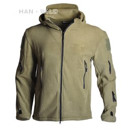 shooting jacket xl Australia - 2020 Men Windproof Tactical Soft Shell Fleece Army Shooting Hunting Coat Camping Hiking Thermal Hooded Jacket 4 color
