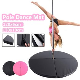 pole for dance Australia - Waterproof Non-slip Pole Dance Protection Pad Foldable Fitness Yoga Soft PU Carpet Suitable For Family Gym 120x10CM