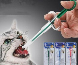 pet tablet Canada - 2020 New Pet Dog Portable Medicine Deworming Tablet Control Stick Anti-Choking Anti-Leak Household All-Purpose Pet Two-head Feeder 3 Colors