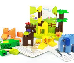 block cards UK - big particle block zoo & cards high quality children puzzle assembly toy both boy and girl 100pcs