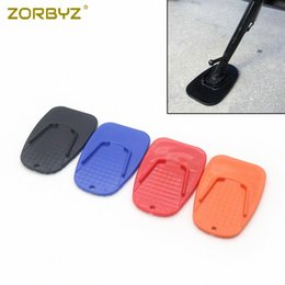 parks bike NZ - ZORBYZ Universtal Motorcycle Side kickstand Plate Base Bike Biker Kick Parking Stand Support Pad For bB2Z#
