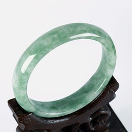 Жадеит браслет светло-зеленый плавающей зеленый нефритовый браслет на Распродаже
