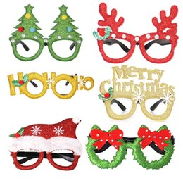 antler props Canada - Merry Christmas Glasses Decoration Children Adult Party Photo Props Santa Antler Glasses Home Christmas Party Decoration