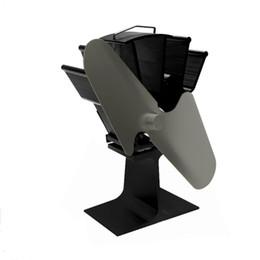 Toptan satış 2 Bıçaklar Isı Enerjili Soba Fan Ev Sessiz Isı Enerjili Soba Fan Renkli Ultra Sessiz Ahşap Şömine