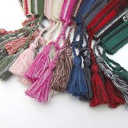 Wholesale designer bracelets Fashion Jewelry Handmade Signature Embroidery Bracelets Women Men Woven Fabrics Tassel Adjustable Bracelet Bangle Rope