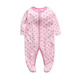 baby boy play clothes UK - newborn romper baby boys girls clothes sleep play footed pajama 3 6 9 12 months cotton sleeper toddler infant kids clothing