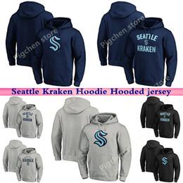 de homens Seattle Kraken Hoodie Suéter Homens Youth Hockey Jerseys 100% Bordados costuras duplas Jerseys shirt jerse boa qualidade Personalizado em Promoção