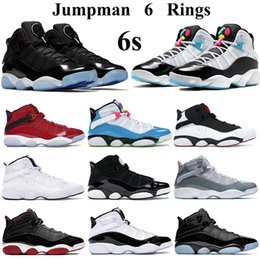 cyber shoes Australia - New 6s Rings Jumpman Basketball Shoes Men Women space jam White Light Blue Fury Cyber concord Trainers gym red confetti cool grey Sneakers