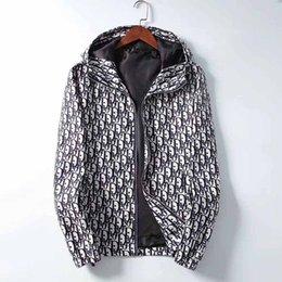 Wholesale flower jackets resale online – Brand New Men Jacket Casual Sports Jackets Coats Autumn Winter Hooded Jackets Men Zipper Hoodies Designer Windbreaker Jackets Clothes