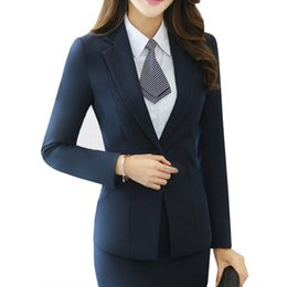blue blazers Australia - Ladies Blazer Long Sleeve Blaser Women Suit jacket Female Feminine Blazer Femme Blue Black Plus size 4XL