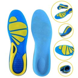 gel shoes run UK - Silicon Gel Insoles Foot Care for Plantar Fasciitis Heel Spur Running Sport Insoles Shock Absorption Pads arch orthopedic