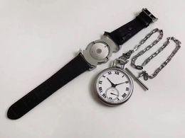49.6mm men's watch 2 in 1 DUAL-USE POCKET+wristwatch pocket clock watch mechanical manual hand winding watches CHP L.U.C LUC 161923-1001 on Sale