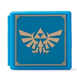 game card box Canada - Premium Game Card Case Card Storage Box for Nintendo Switch - Hylian Crest