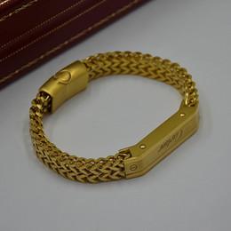 venda por atacado Homem pulseiras de alta qualidade metal titânio pulseiras tecido com Cartler marca Jóias Charm Bracelet Mens Wear Pulseira como presente