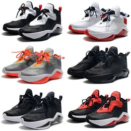 grade school shoes NZ - 2020 New LeBron Soldier 14 Grade School Thunder Grey hot sale kids men Basketball shoes wholesale