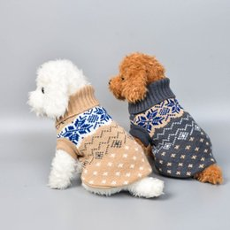 chihuahua sweaters wholesale UK - Winter Dog Knitted Sweater Clothes Pet Dogs Cat Knitwear Christmas Puppy Warm Coat Chihuahua Clothing For Small Medium Large Dog