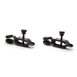 wholesale fetish toys Canada - DHL SHIP Screw control Black Metal Tit Clamps Beads Fetish Nipple clamps Tits Clip adult products Bondage sex toys for couples 1pair