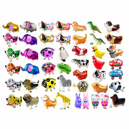 Wholesale happy birthday cats resale online - Helium Aluminum Shower Wedding Children s Walking Rabbit Pet Cat Helium Styles Air Birthday Animals kids Foil Happy Adult Dinosaur Balloons