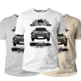 vintage car prints Canada - T-Shirt, Classic British Car Fans V8 Vantage N420 Vintage Men's Tees Men 2020 Brand Casual Tees Clothing T-Shirt Harajuku Print