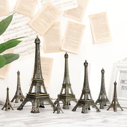 iron art car UK - g7UZM Paris Eiffel Tower model European style Home furnishing decoration home decoration creative Northern European metal wrought iron craft