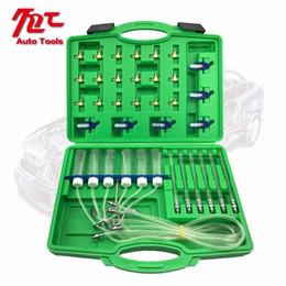 Wholesale Diesel Injector Flow Meter Test Kit Common Rail Adaptor Fuel Tester Set Tools TayQ#