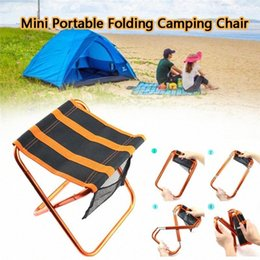 lightweight portable chairs NZ - Mini Portable Folding Beach Chair Camping Chair Lightweight Outdoor Furniture For Adults Fishing Hiking Gardening Beach 30JULY26 nyaq#
