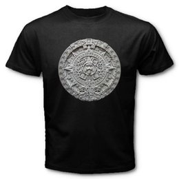 custom carvings Australia - 2019 Hot Sale Super Fashion AZTEC Calendar Sun Stone Sunstone Mexican Art Carving Maya Mayans T-SHIRT AZS
