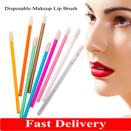 disposable eyeshadow applicators 2021 - Fast Delivery 50pcs Disposable Cosmetic Makeup Lip Brush Lipstick Lip Glossy Wands Pen Cleaner Applicator Eyeshadow Lip