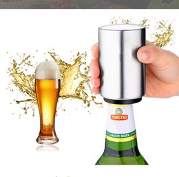 steel wine bottle opener set UK - Stainless Steel Bottle Opener Automatic Beer Soda Cap Wine Drinking Bottle Opener Set kitchen accessories kitchen Tool gadgets DHL