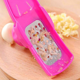 mini slicer cutter Australia - Multi-functional Garlic Grinder Colorful Garlic Mill Press Tool Mini Ginger Grinding Grater Planer Slicer Cutter Mill IIA162