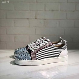 red bottoms sneakers NZ - Women Studded Spikes Shoe Casual Shoes Fashion Red Bottoms Studded Spikes Fashion High Top Sneakers Red Leather Vintage Boot Size35-40 Type5