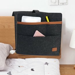 living room chairs home UK - Large Pouch Felt Bedside Organizer Sofa Pocket Couch Magazines Living Room Desk Phone Holder Hanging Storage Bag Dorm Home Chair