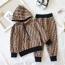 Spring Autumn kids Boys Girls Long Sleeve Hooded Tops hoodies +Long Pants Outfits Baby Tracksuits Childrens Clothes 2Pcs Set