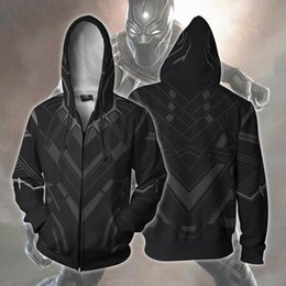 panthers hoodie Australia - New Avengers 3 DPrint coat hoodie Panther cosplay men's zipper hooded coat Marvel hoodie