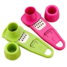 ginger cutter Canada - Garlic Ginger press Cutter Grinding Planer quick Slicer Mini Garlic Grater Cooking Tool gadgets Kitchen Utensils Accessories