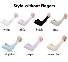 Wholesale Outdoor Sports Ice Silk Sleeve Ice Cool Breathing Sunscreen Sleeve Summer Gloves for Men Women Riding Training Arm Warmers
