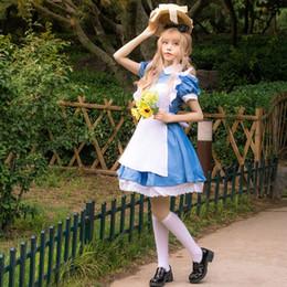 Wholesale belle costume women online – ideas Cartoon cosplay beauty Belle cos Costume Princess long maid Princess dresslong skirt dressdress and Beast maid dress Alice