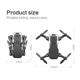 red black helicopter UK - Mini RC Foldable drone With 4K HD Camera Wifi FPV Selfie Helicopter Altitude Hold Quadcopter Profesional Drones Kids Toys.#yij