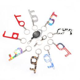 Бесконтактный Key Chain элеватором артефакта Бесконтактной Антибактериальной EDC Key Chain 9 стилей T3I5919 на Распродаже