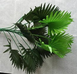 fan leaves NZ - Simulated large fan leaf interior decoration flowers green planting palm leaves shooting props potted flowers wholesale landing WL212