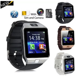 relojes inteligentes samsung al por mayor-DZ09 SmartWatch Bluetooth GT08 Smart Watch Soporte tarjeta SIM Monitor Sleep Monitor recordatorio sedentario para Android Samsung Teléfono