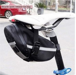 bicycle seat cushions Canada - mountain bike saddle bag seat tube rear seat trunk bag cushion kit cycling Bicycle bicycleLuggage bicycle equipment accessories