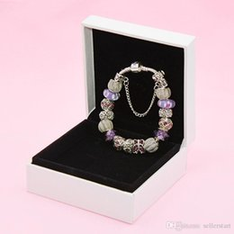 butterfly chain bracelets silver Australia - Temperament butterfly charm bracelet for Pandora silver plated DIY beaded ladies bracelet high quality with original box free shipping