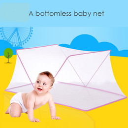 quick beds Canada - Portable Baby Infants Mosquito Insect Netting Mesh Folding Multi-function Big Space Child Summer Bed Crib Mosquito Tent