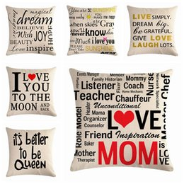 quoted pillows Canada - english word sayings cushion cover modern quotes sofa lounge throw pillow case 45cm cojines home decor
