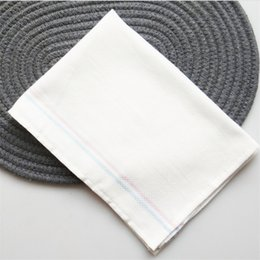 wholesale cotton rags NZ - Wholesale pure cotton washing dishes, towels double baijie cloth, not easy to dip in oil and water thickening kitchen rags