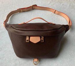 Wholesale women belt flowers for sale – dress New Fashion Pu Leather Brown flower Handbags Women Bags Designer Fanny Packs Famous Waist Bags Handbag Lady Belt Chest bag