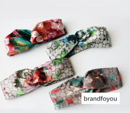 plastic hummingbird toy Canada - Hot Luxury Designer 100% Silk Cross Headband Women Girl Elastic Hair bands Scarf RetroTurban Headwraps Gifts Flowers Hummingbird Orchid z049