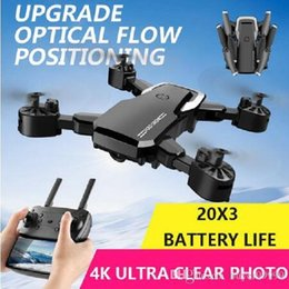 toys black Canada - 4K 1080P HD Camera Mini Drone WiFi Aerial Photography RC Helicopters Toy Adult Kids Black Gray Foldable Quadcopter Aircraft New