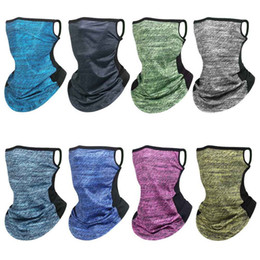 sunshade covers Canada - Ice Silk Triangle Bandana Face Solid Scarf Neck Gaiter Cover Hang Ear Scarf Sunshade Fishing Head Bandage Running Hiking Cycling